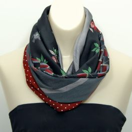 Upcycled Necktie Cowl Scarf
