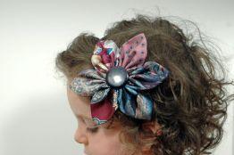 Upcycled Necktie Daisy Headband