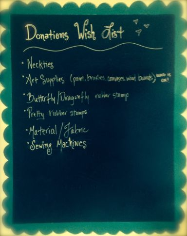 Donations wish list