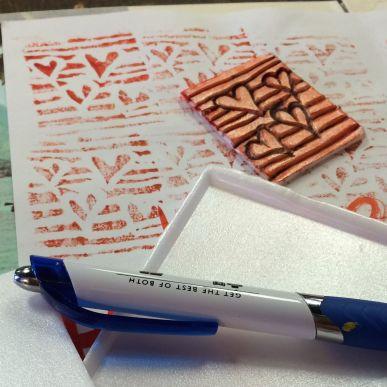Styrofoam stamp