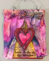 """Love Adventure"" Mixed Media Altered Art by Lulu Bea"